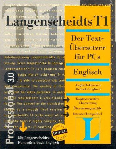 Langenscheidts T1, CD-ROMs, Englisch, Professional 3.0, 1 CD-ROM