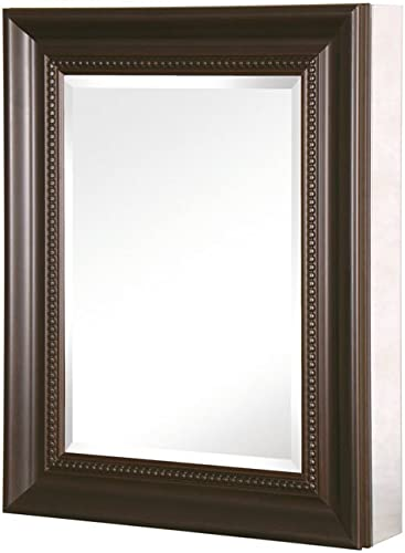 Pegasus SP4599 Deco 20-Inch Framed Medicine Cabinet, Oil Rubbed Bronze