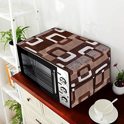 E-Retailer® Combo Set of 1Pc Fridge Top Cover with 6 Pockets, 2Pc Fridge Handle Cover, 1Pc Microwave-Oven Top Cover With 4 Pockets And 1Pc Top Load Washing Machine Cover (Brown, 5 Pc Set) 51FQ1UN9LfL India 2021