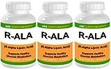 3 Bottles R-ALA R-Alpha Lipoic Acid 200mg 270 Total Capsules KRK Supplements