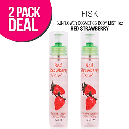 (2 PACK) SUNFLOWER Cosmetics Body Mist 1oz (Red Strawberry)