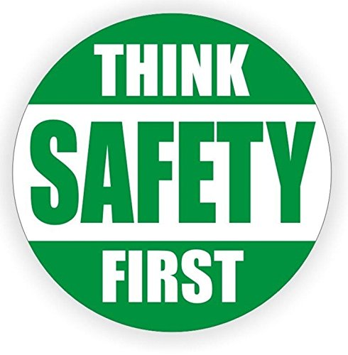 1 Set Excessive Unique Think Safety First Window Sticker Sign Laptop Luggage Wall Room Graphics Industrial Security Medical Hard Hat Decor Vinyl Stickers Patches Size 2