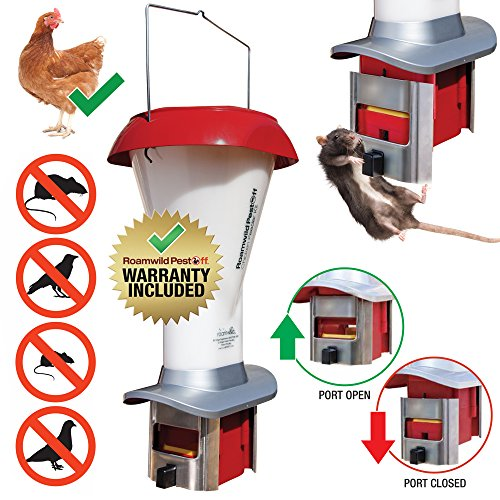 PestOff Rat Proof Chicken Feeder kit - Rat Proof Poultry Feeder – Weather Proof - 8lbs Capacity - NEW PRODUCT