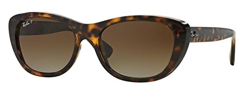 42a894ed38 Amazon.com  Ray-Ban Highstreet RB 4227 Sunglasses Light Havana Brown  Gradient Polarized 55mm   HDO Cleaning Carekit Bundle  Clothing