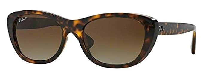 e52ff617ad0 Amazon.com  Ray-Ban Highstreet RB 4227 Sunglasses Light Havana Brown  Gradient Polarized 55mm   HDO Cleaning Carekit Bundle  Clothing
