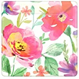 Watercolor Florals Dessert Paper Plates Floral Garden Party Disposable Tableware, Square, 7