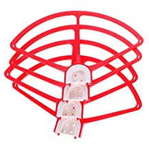 MonkeyJack 4 Pieces Red Prop Propeller Blade Guards Protector For DJI Phantom 3 2 1 Quadcopters