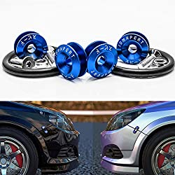 JDM Quick Release Fasteners For Car Bumpers Trunk Fender Hatch Lids blue Color