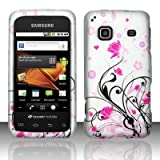 Samsung Galaxy Prevail M820 Boost Rubberized Designer HARD PROTECTOR COVER CASE SNAP ON PERFECT FIT - Pink Vines