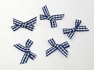 Lazos de impresión de cuadros, color azul y blanco–por–Pack de 9+ libre Minerva Crafts Craft guía