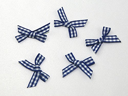 Minerva Crafts Gingham Print Ribbon Bows - per Pack of 9