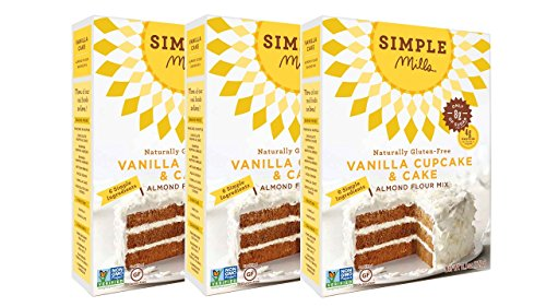 Simple Mills Almond Flour Mix, Vanilla Cupcake & Cake, 11.5 oz, 3 count