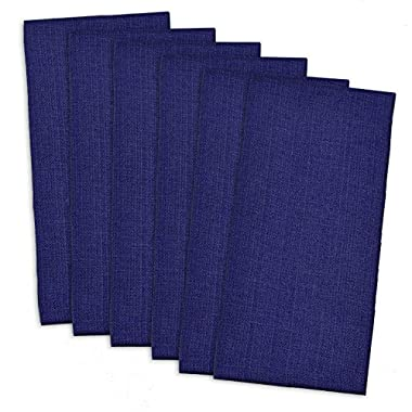 DII 100% Cotton, Oversized Basic Everyday 20x 20  Napkin, Set of 6,Nautical Blue