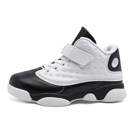 ZHRUI Zapatillas de Baloncesto para niños Calzado Deportivo para niños Calzado para Correr Zapatillas de montaña