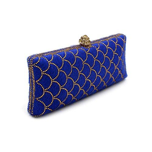 pour bleu femme 2 Flada bleu 1 Pochette moyen bleu T0xw75q
