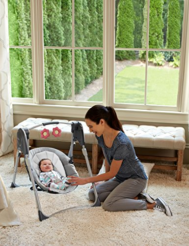 Graco Slim Spaces Compact Baby Swing, Alma by Graco (Image #3)
