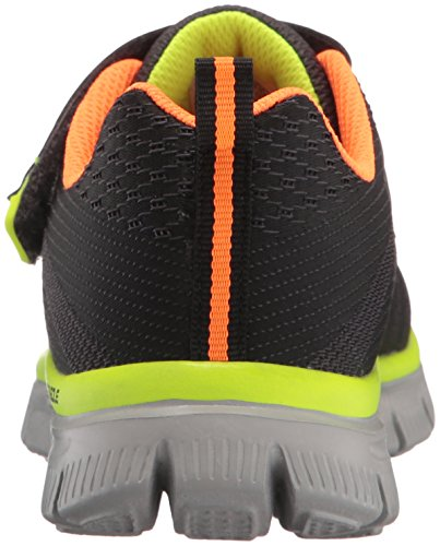 Skechers Kids Flex Advantage-Master Mind Athletic Sneaker (Little Kid/Big Kid) Charcoal/Orange