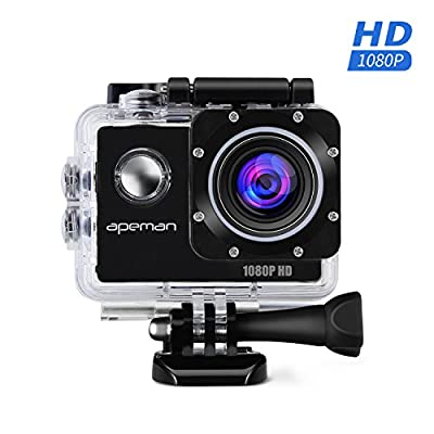 APEMAN Action Camera, Sport Camera 1080p HD Waterproof Action Cam, Portable Package with 1.5 Inch 170° Wide-Angle Lens by APEMAN
