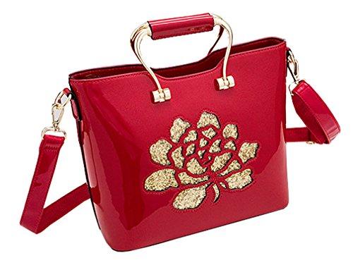 Con Larga Las Señora Lentejuela Rojo Messenger Vino La Bolso Crossbody Asas De Hombro Correa Bolsa Flor Para Himaleyaz Mujeres 7ZqzS11