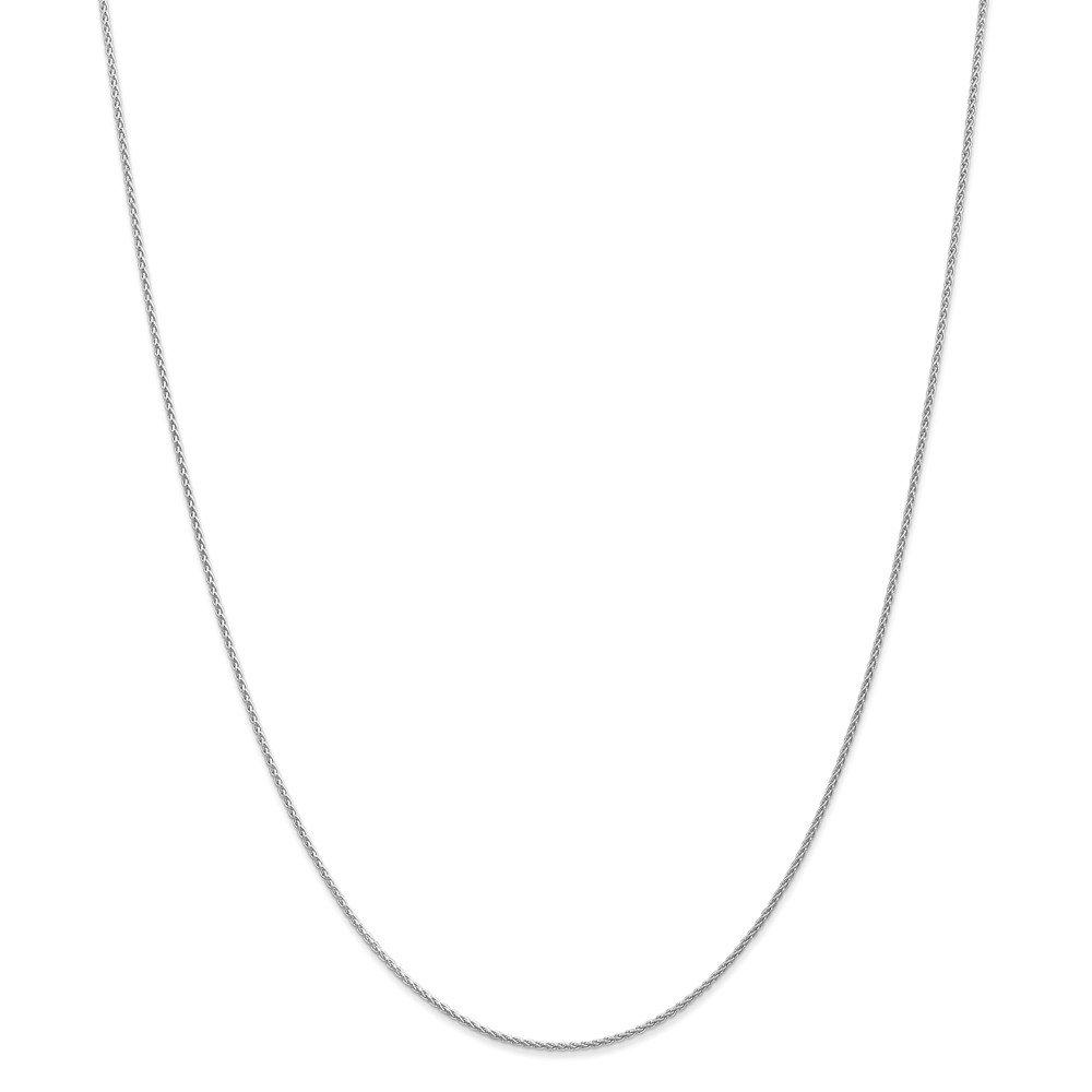 Top 10 Jewelry Gift 14k WG 1.2mm Parisian Wheat Chain