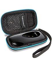 Supremery Case für TP-Link M7200 mobiler WLAN Router Case Tasche Schutzhülle Etui mit Netztasche für TP Link M7200