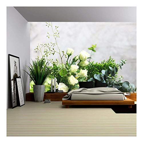 (wall26 - Flowers - Removable Wall Mural | Self-Adhesive Large Wallpaper - 100x144 inches)