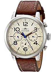 Tommy Hilfiger Mens 1791230 Jake Analog Display Japanese Quartz Brown Watch