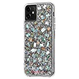 Case-Mate - iPhone 11 Case - Karat - Real Mother of Pearl & Silver Elements- 6.1 - Mother of Pearl