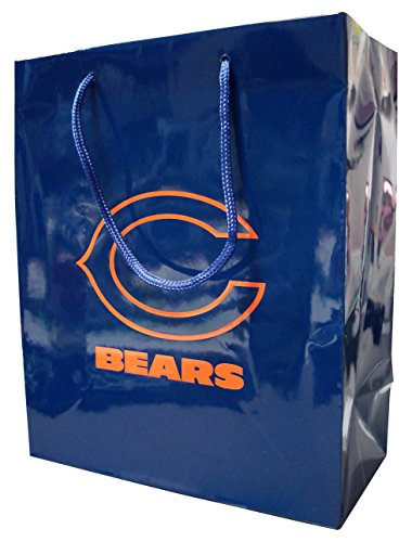 Pro Specialties Group NFL Chicago Bears Gift Bag, Navy/Orange, One - Specialties Bag Pro