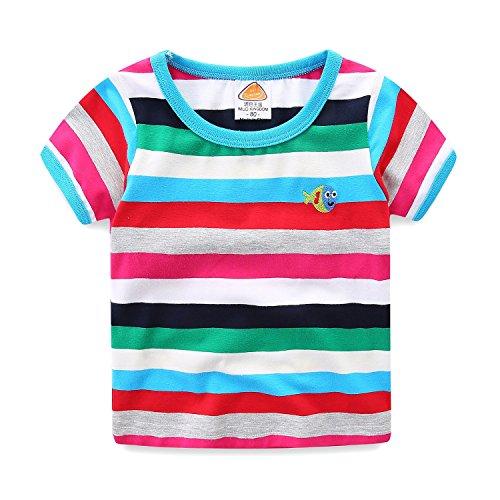 (Mud Kingdom Boy Tee Shirts Short Sleeve Rainbow Fish Size 7/8)
