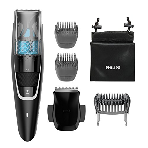 Philips Norelco Series 7200 Beard Trimmer with Vacuum BT7225/49 Black ()