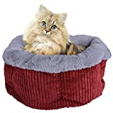 Legendog Cat Bed, Deluxe Cozy Comfortable Suede Pet Bed, Detachable Washable Pet Bed for Cats Dogs with Cushion, Quality Sleeping Nest for Small Animals For Sale