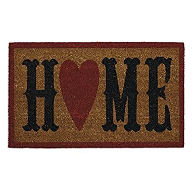 DII Natural Coir Fiber, 18x30  Entry Way Outdoor Door Mat with Non Slip Backing - Home Heart