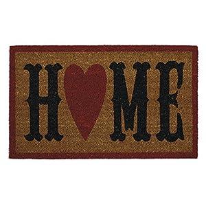"""DII Indoor/Outdoor Natural Coir Easy Clean Rubber Back Entry Way Doormat For Patio, Front Door, All Weather Exterior Doors, 18 x 30"""" - Home Heart"""