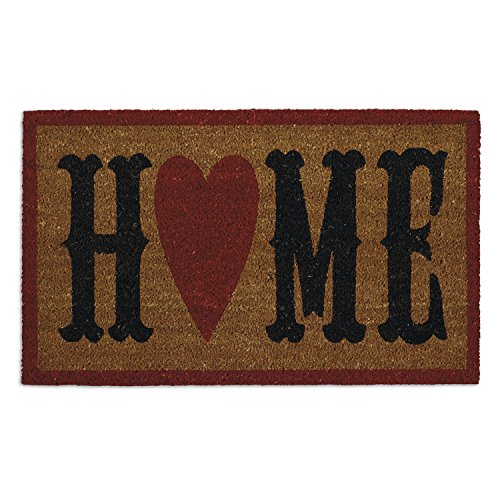 Welcome Home Door - DII Indoor/Outdoor Natural Coir Easy Clean Rubber Non Slip Backing Entry Way Doormat For Patio, Front Door, All Weather Exterior Doors, 18 x 30