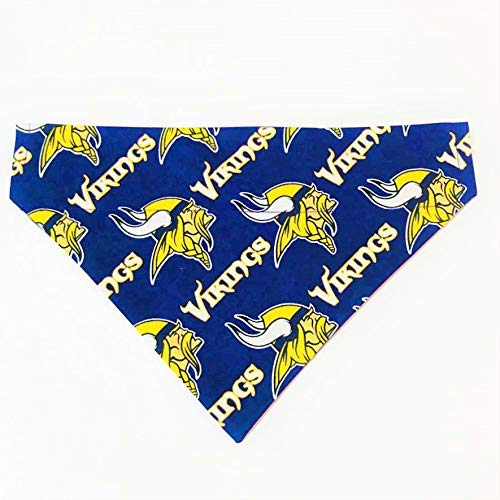 Minnesota Vikings Pet No-Tie Dog Bandana Over the Collar Kerchief by Barking Bad Bakery and Boutique