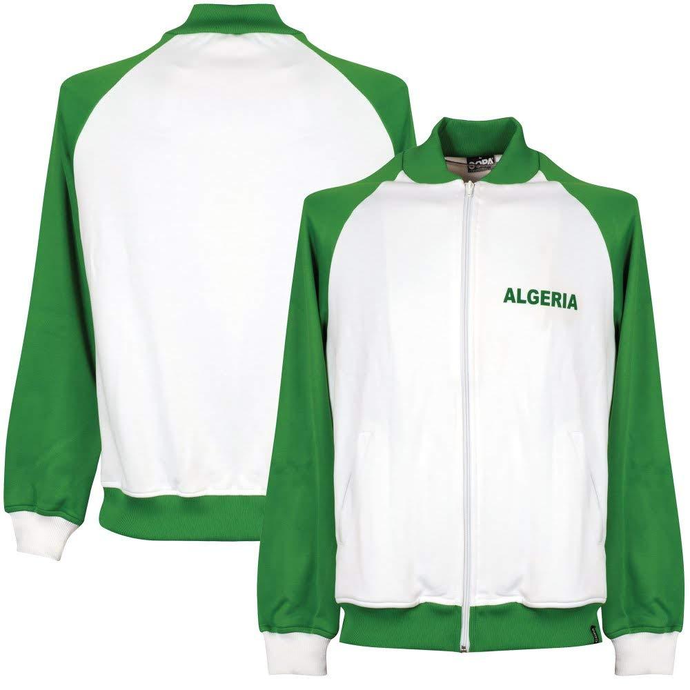 Copa 1980 Algerien Retro Jacke - weiß grün