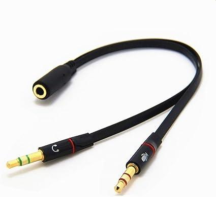 Cable adaptador de audio para auriculares y micrófono, clavija ...