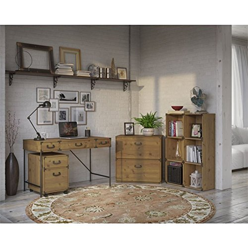 Kathy Ireland Office Ironworks 48W Writing Desk Office Suite in Pine