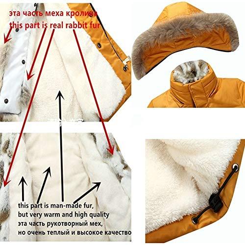 Xxl Oraycm D'hiver Longue Canard Veste Blanc Duvet De Yellow 90 xwgx7qT