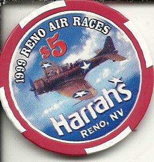 1999 reno air races reno nevada casino chip ()