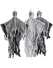 THE TWIDDLERS 3 hangende griezelige skeletten, 90 cm - Halloween party decoratie