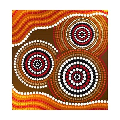 Australia Aboriginal Art Poster Print by Irina Solatges