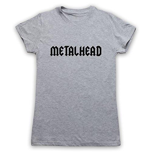 Metalhead Heavy Metal Camiseta para Mujer gris