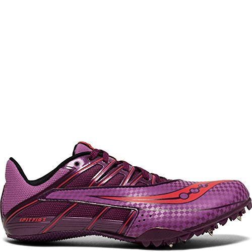 Saucony Women's Spitfire 4 Track and Field Shoe, Purple/Pink, 5 Medium US
