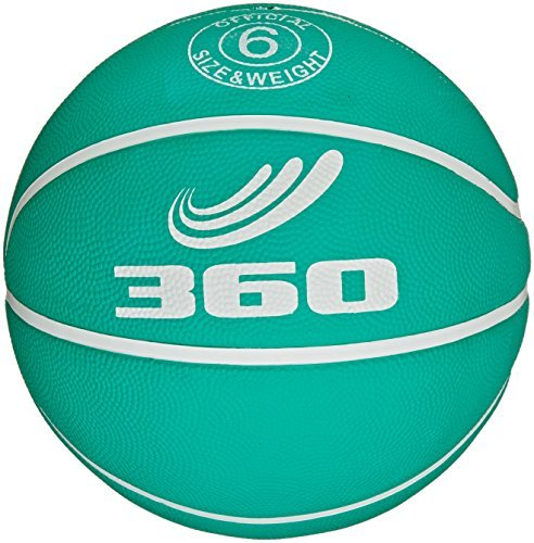 360 Athletics Playground Rubber Basketball, Size 6, Green by 360 Athletics