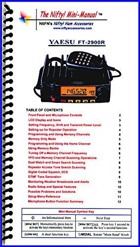 Yaesu FT-2900R / FT-2980R Mini-Manual by Nifty Accessories (Mini Manual Mini)