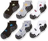 Starter Boys' 6-Pack Quarter-Length Athletic Socks, Amazon Exclusive