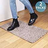 """2 Packs of Premium Absorbs Magic Door Mat Size : 17.7"""" X 29.5"""" for Doorway, Staircase, Shoe Mat, Balcony, Front door, Mud mat Non-Slip Latex Backing, Pick up Mud, Dirt, Dust, Water from shoe and Pet"""