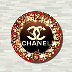 Art time production Chanel 11'' Handmade Wall Clock - Get unique décor for home or office – Best gift ideas for kids, friends, parents and your soul mates.